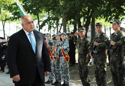 Бойко Борисов в Шабла СНИМКА: Министерски съвет