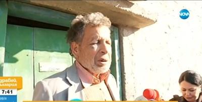 Нападнатият от крадци Милю Ангелов СНИМКА: НОВА ТВ