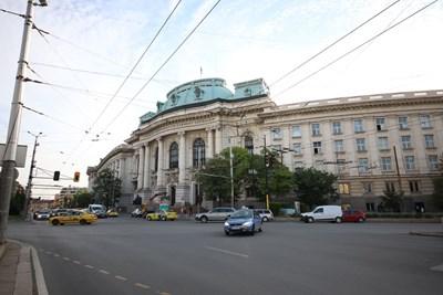 Кръстовището пред Ректората на Софийския университет СНИМКA: Николай Литов
