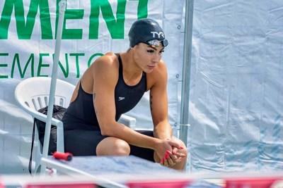 Успешната плувкиня спонтанно решава да участва в състезание с кауза.