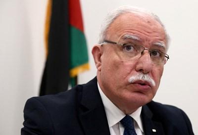 Рияд ал Малики, министър на външните работи на Палестина СНИМКА: РОЙТЕРС
