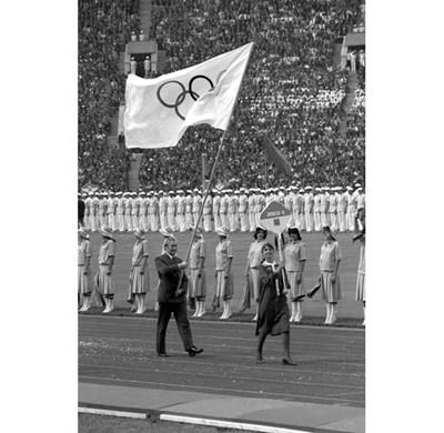 Олимпийският флаг бе използван за първи път на откриването на игрите в Москва през 1980 г.