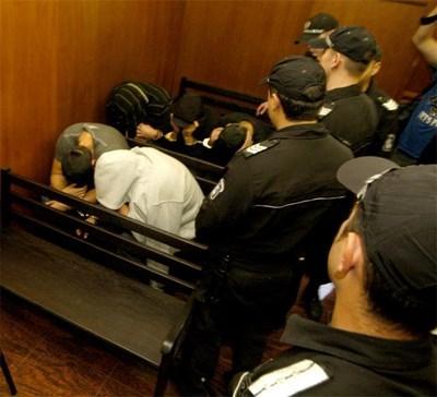 Част от подсъдимите, снимани по-рано в спецсъда СНИМКА: Архив