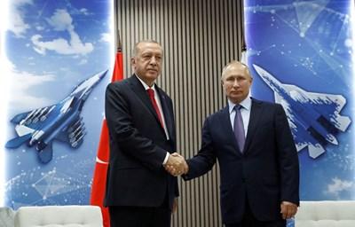 Реджеп Ердоган и Владимир Путин СНИМКА: Ройтерс