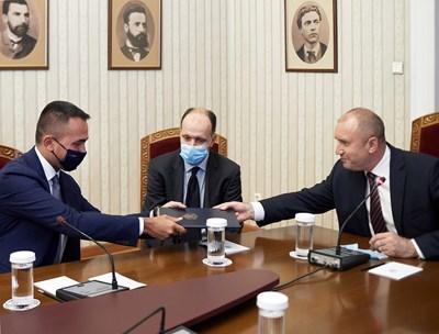 Радев: България и Италия споделят приятелство, което се доказа в условия на криза