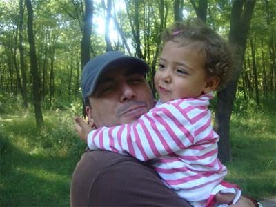 Герасим Георгиев-Геро и 3-годишната Йохана