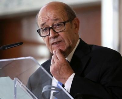 Външният министър на Франция Жан ив Льо Дриан СНИМКА: Ройтерс