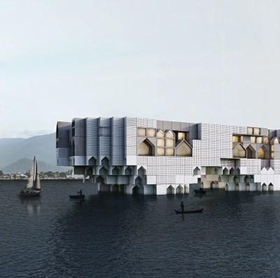 """The Floating City на Kamran Heirati Architects в иранския град Салманшахр, номинация в категория """"Проекти за офис сграда със смесено предназначение"""" Снимки worldarchitecturefestival.com"""
