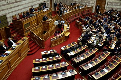 Гръцкият парламент  СНИМКА: Ройтерс
