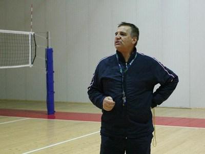"""Стоян Стоев се върна във волейбола като треньор на """"Левски"""". СНИМКА: Андрей Михайлов"""