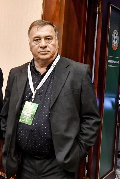 16 февруари  2018 г. - Павел Панов на  конгреса на БФС.  Последната  публична поява на големия футболист и човек.  СНИМКА: LAP.BG