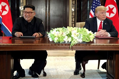 Ким Чен Ун и Доналд Тръмп СНИМКА: РОЙТЕРС