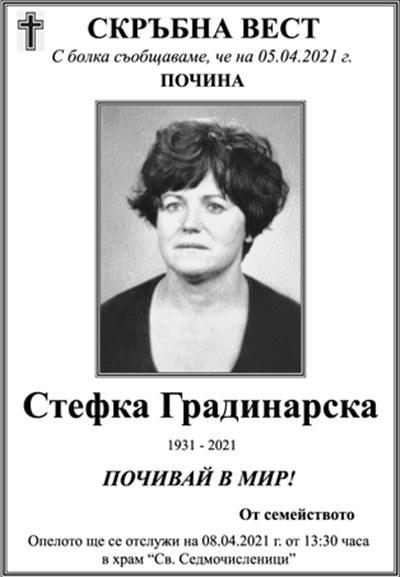 Стефка Градинарска