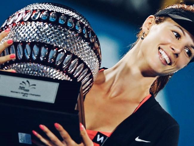 В началото на 2014 г. Цветана Пиронкова спечели в Сидни първата си и единствена засега титла в турнир от календара на женската асоциация. СНИМКА: РОЙТЕРС