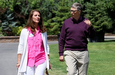Бракът на семейство Гейтс продължи 27 години.   СНИМКА: РОЙТЕРС