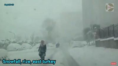 Снегът в източната част на Турция шокира мнозина