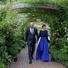Шарл Мишел и жена му Амели пристигат на прием в кулоарите на срещата на върха на Г-7 през юни 2021 г.