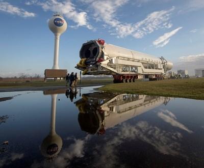 Това е ракетата за доставките Снимка: Ройтерс