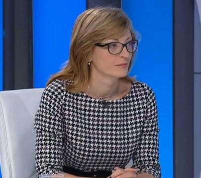 Външният министър Екатерина Захариева  Кадър: БНТ