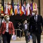 Урсула фон дер Лайен и Шарл Мишел на срещата на ЕС.