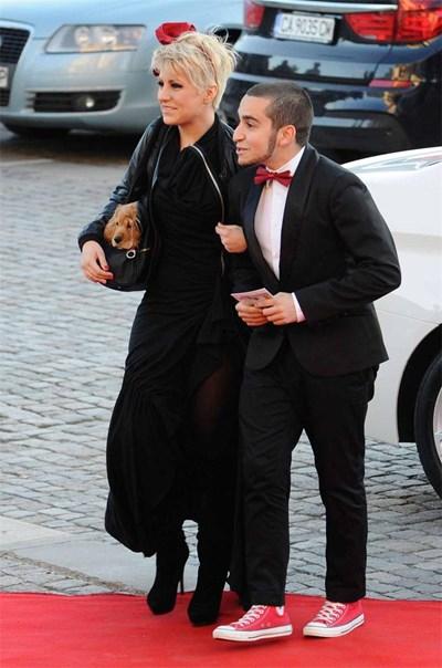 Поли Генова с Рафи Бохосян на наградите на БГ радио.