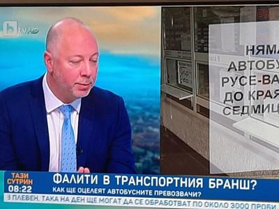 Росен Желязков: От град до град пътуват автобуси, но няма пътници