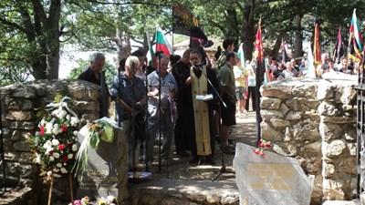 На това място са погребани Тодор Александров и телохранителят му Панзо Зафиров.