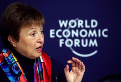 Кристалина Георгиева на форума в Давос СНИМКИ: РОЙТЕРС