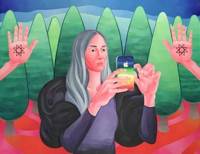"""Картина на Трендафила Трендафилова от изложбата й """"Фантастичен романс"""""""