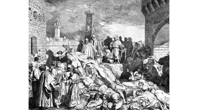 Половината европейци умират в Юстиниановата чума (541-545 г.)