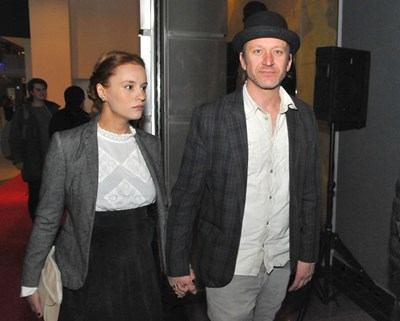 """Радина Кърджилова и Деян Донков на премиерата на българския филм """"Каръци"""" на 30 март."""