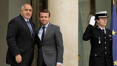 Бойко Борисов и Еманюел Макрон при срещата между двамата през юни тази година в Париж