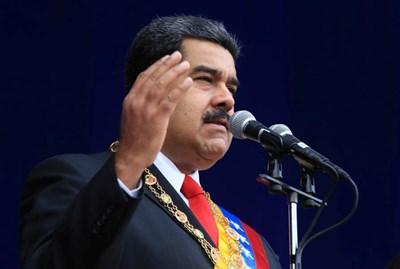Мадуро остана невредим при експлозията. Снимка РОЙТЕРС
