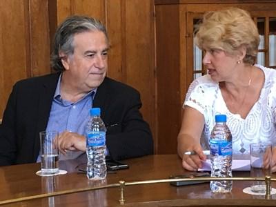 Арх. Лийх Сколник обеща да превърне Базиликата в световен музей. Снимки: Авторът