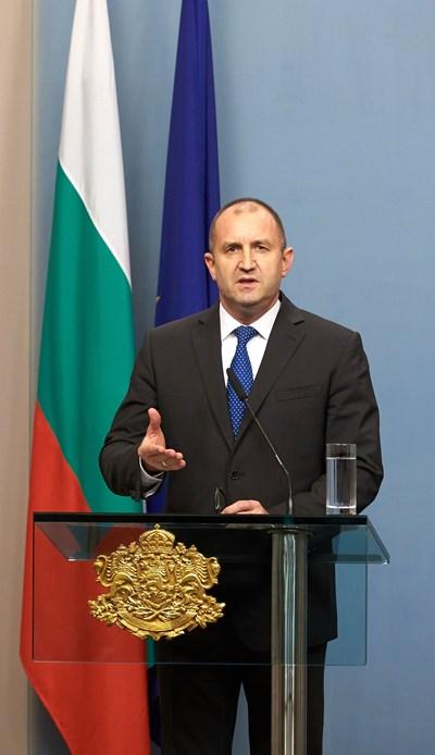 Румен Радев СНИМКИ: прессекретариат на президентството