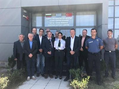 Деветима германски депутати пристигнаха на проверка на оградата по българската граница с Турция, Снимки МВР
