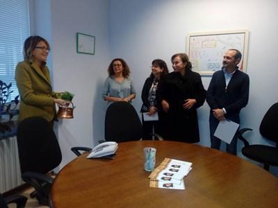 Магистрати от Софийския градски съд на откриването на нова зала за медиация в Съдебната палата. СНИМКА: СРС