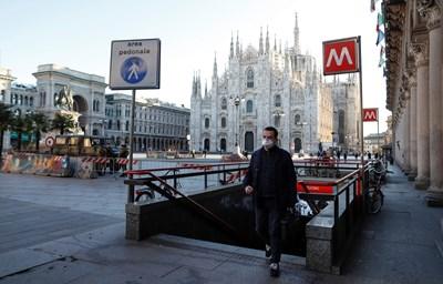 Центърът на Милано все още е отцепен СНИМКА: РОЙТЕРС