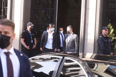 Кьовеши се срещна първо с правосъдния министър проф. Янаки Стоилов. СНИМКИ: ВЕЛИСЛАВ НИКОЛОВ
