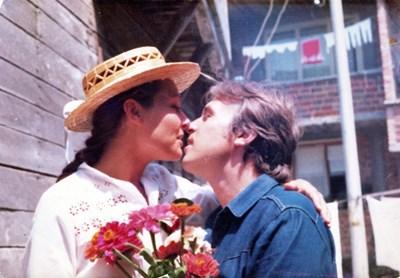 Петя и Иван на сватбата си в Созопол