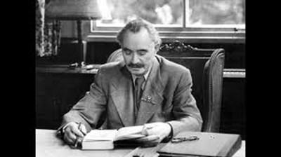 Георги Димитров в работния си кабинет като министър-председател на Народна република България