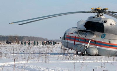 """Самолетът Ан-148 на """"Саратовски авиолинии"""" Москва-Орск се разби в неделя  СНИМКА: Ройтерс"""