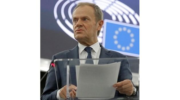 Туск: Брекзит е една от най-грандиозните грешки в историята на ЕС