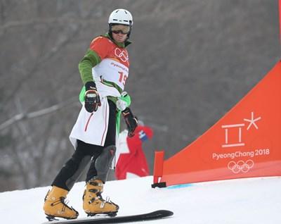 Радослав Янков отпадна още на квалификациите н паралелния гигантски слалом. СНИМКА: Костадин Андонов