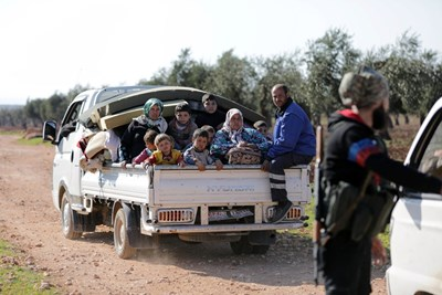 Открит е коридор за спешна евакуация от Африн, откъдето цивилното население може да напусне града Снимка: Ройтерс