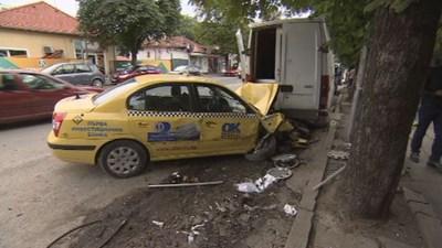 """Сигнал за такси с неадекватно поведени на пътя в района на бул. """"Рожен"""" бе подаден около 17 часа от служител на СДВР вчера СНИМКА: СДВР"""