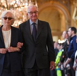 Крал Албер Втори със съпругата си Паола