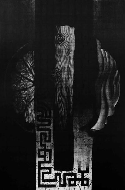 """Част от """"тотемите"""", рисувани с най-прецизна графична техника, на художниците Васил Ангелов и Зоран Мише. Те могат да се видят в галерия """"Нюанс"""" от 13 до 30 ноември. Галеристите обичат да провокират, предлагайки нестандартни изложби. Под егидата на галерията е и конкурс за млади художници. СНИМКИ: АРХИВ НА """"НЮАНС"""""""