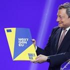 Премиерът Марио Драги показва плана за възстановяване на Италия, след като бе одобрен от Еврокомисията през юни.