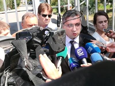Николай Нанков пред журналистите СНИМКА: Румяна Тонева СНИМКА: 24 часа